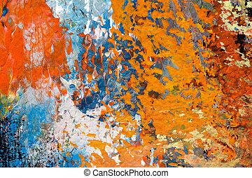 détail, de, peinture huile