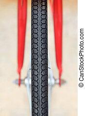 détail, de, pneu vélo