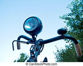 détail, de, vieux, bicyclein, les, été