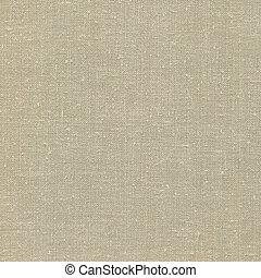 détaillé, bronzage, burlap, tissu, espace, vendange, gris,...