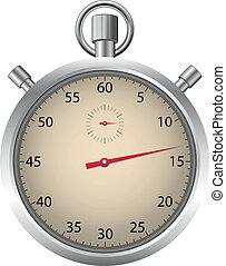 détaillé, chronomètre