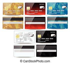 détaillé, ensemble, eps10, crédit, résumé, isolé, illustration, réaliste, vecteur, conception, arrière-plan., cartes, géométrique, blanc