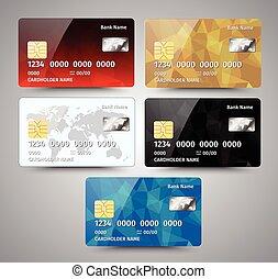 détaillé, gris, ensemble, eps10, crédit, résumé, isolé, illustration, réaliste, vecteur, conception, arrière-plan., cartes, géométrique