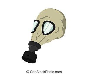 détaillé, militaire, illustration, masque gaz