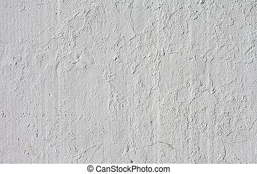 détaillé, pierre, fragment, élevé, mur, fond, blanc