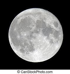 détaillé, pleine lune