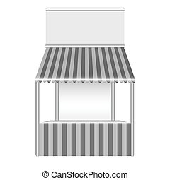 détaillé, stall., vecteur, illustration
