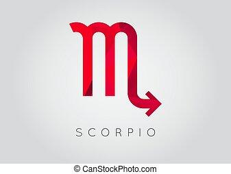 détaillé, style, illustration., scorpion, moderne, drawing., vecteur, élégant, zodiaque, icon., constellation.
