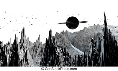 détaillé, timelapse., render, angle, surface, vaisseau spatial, 81, paysage, espace, 3d, très, planet., examen, environment., fond, fiction, large, science, cosmique, planète, soulagement, ou, vue