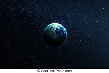 détaillé, tout, éléments, ils, meublé, beauty., projection, espace, image, autre, inclure, nasa., planètes, la terre, available., extrêmement, orientations