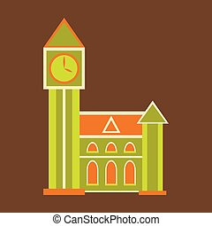 détaillé, uni, célèbre, grand, symbole, illustration, élevé, la plupart, vecteur, londres, qualité, landmark., mondiale, kingdom., ben, voyage