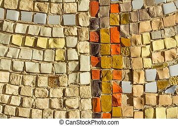 détails, coloré, pierres, résumé, céramique, mosaic.