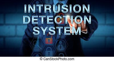 détection, directeur, toucher, système, intrusion