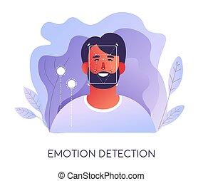 détection, moderne, propriétaire, émotion, identifier, ...