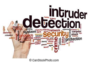 détection, mot, intrus, nuage