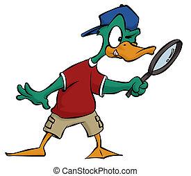détective, canard