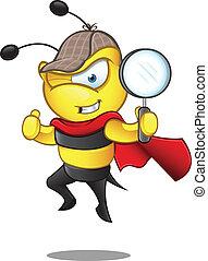 détective, super, -, abeille