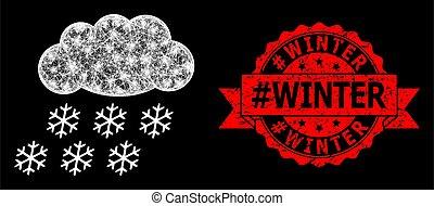 détresse, cachet, #winter, taches, clair, maille, timbre, toile, neige, nuage, lumière