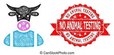détresse, linéaire, animal, icône, non, timbre, vache, essai, garçon