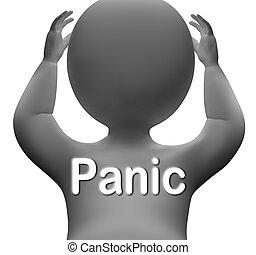 détresse, moyens, caractère, peur, panique, souci