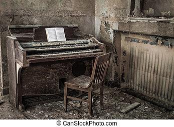 détroit, abandonnés, église