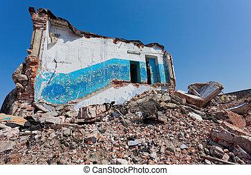 détruit, bâtiment