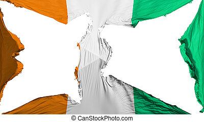 détruit, drapeau, divoire cote