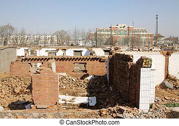 détruit, murs