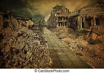 détruit, rue