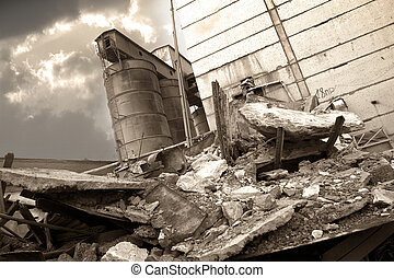 détruit, usine