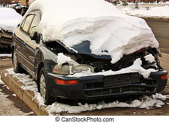 détruit, voiture
