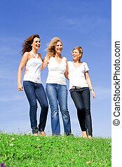 développé, femmes, haut, filles, mère