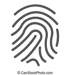 développement, 10., linéaire, marquer, impression, eps, business, icône, vecteur, doigt, modèle, graphiques, ligne, signe, fond blanc