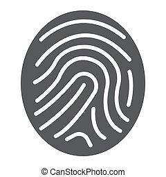 développement, 10., solide, marquer, impression, eps, business, icône, vecteur, doigt, modèle, graphiques, blanc, signe, fond, glyph
