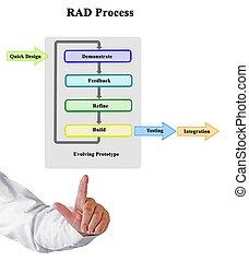 développement, application, processus, rapide, (rad)