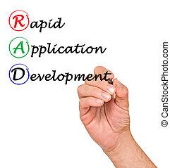 développement, application, rapide, (rad)