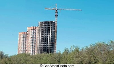 développement, bâtiment, forêt, russie, secteur