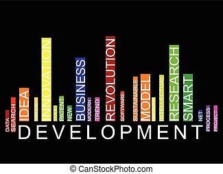 développement, barcode, fond