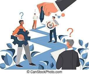 développement, business, ou, processus, ligne