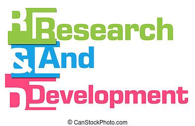 développement, coloré, recherche