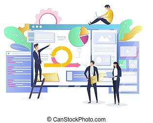 développement, concept, agile, illustration, méthodologie, vecteur, logiciel