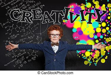 développement, concept, créativité, education, kid., heureux