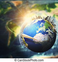 développement, concept, global, arrière-plans, ambiant, soutenable