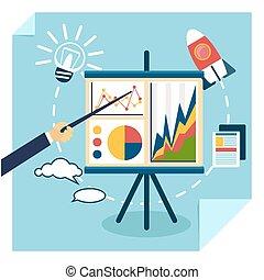 développement, concept, présentation, business