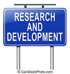 développement, concept., recherche