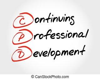 développement, continuer, -, cpd, professionnel