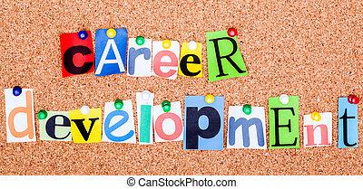 développement, coupure, lettres, carrière, goupillé,...