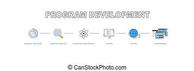 développement, cycle, programme, entretien, logiciel, vie, processus