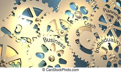 développement, dents, direction, illustration, individualité, education, rendre, tourner, compétence, 3d, planning., entraîneur, mots, business