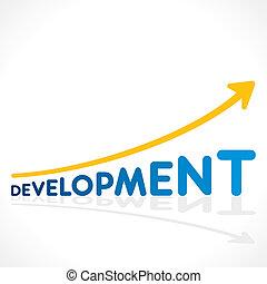 développement, graphique, mot, créatif